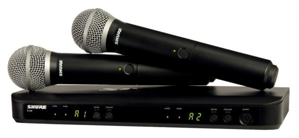Wireless handheld microphone Shure BLX288E-PG58-M17