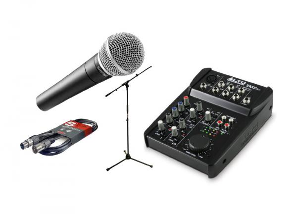 Microphone pack with stand Shure Pack SM58 + ZMX52 + Pied + Câble