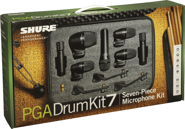 Wired microphones set Shure PGA Drumkit 7