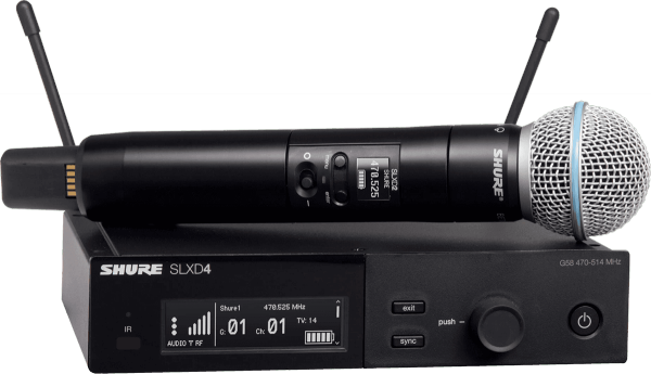 Wireless handheld microphone Shure SLXD24E-B58-H56