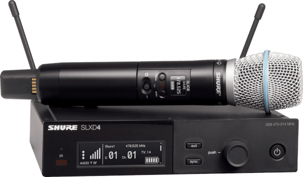 Wireless handheld microphone Shure SLXD24E-B87A-H56