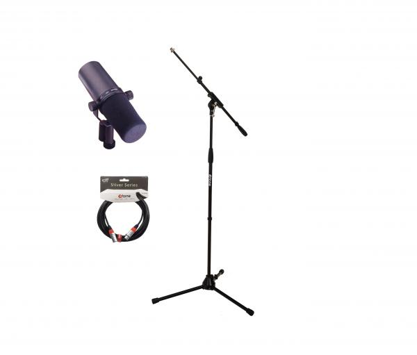 Microphone pack with stand Shure SM7B + Stand + cable