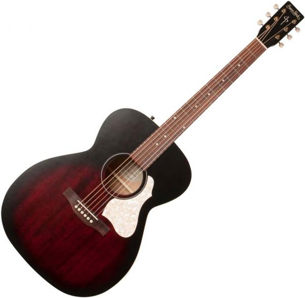 Acoustic guitar Simon & patrick Songsmith Concert Hall +Bag - tennessee red