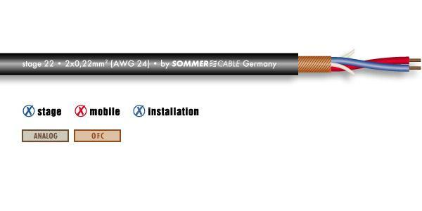 Meter cable Sommer cable Stage 22 Highflex
