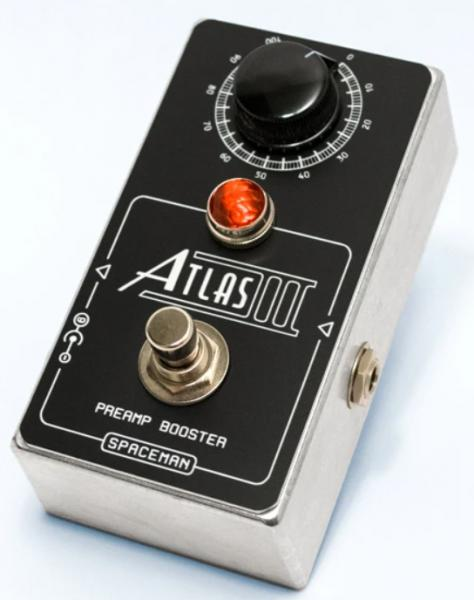 Volume, boost & expression effect pedal Spaceman effects Atlas III Preamp Booster Ltd - Silver