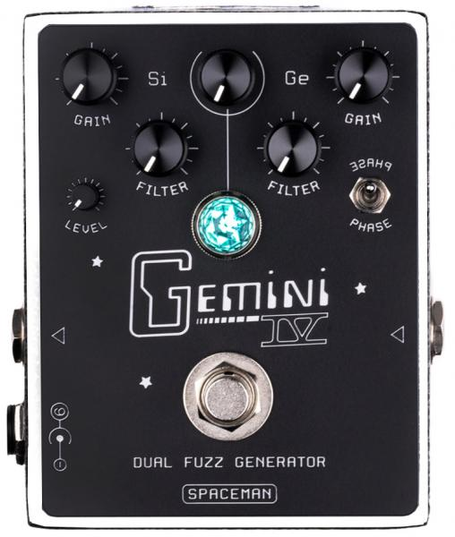 Overdrive, distortion & fuzz effect pedal Spaceman effects Gemini IV Dual Fuzz Generator Ltd - White