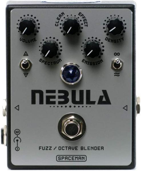 Overdrive, distortion & fuzz effect pedal Spaceman effects Nebula Fuzz Octave Blender Ltd - Black