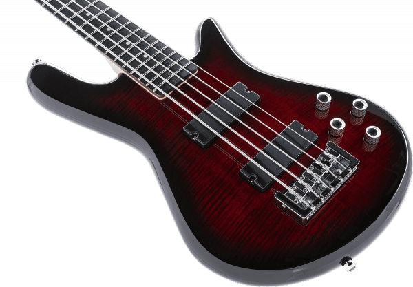 Solid body electric bass Spector                        LEGEND SERIE STANDARD 5 - black cherry