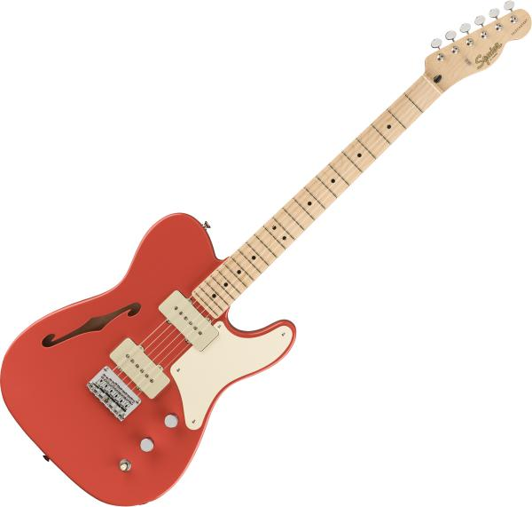 Semi-hollow electric guitar Squier Paranormal Cabronita Telecaster Thinline - Fiesta red