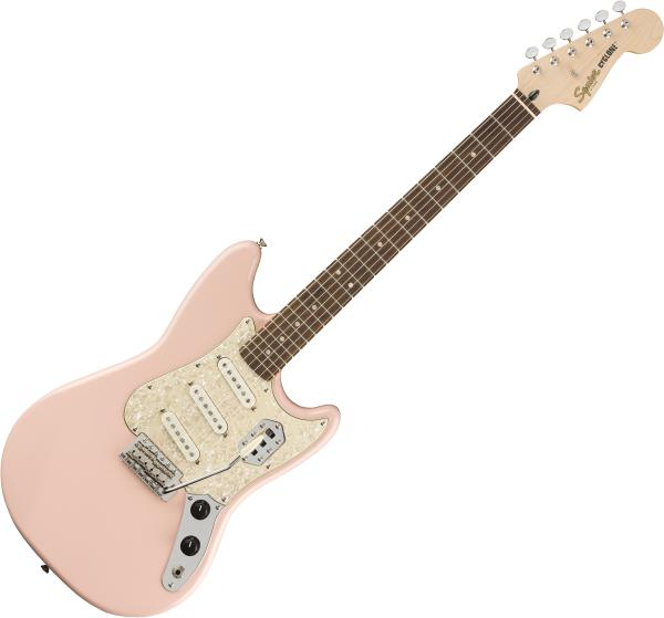 Solid body electric guitar Squier Paranormal Cyclone - Shell pink