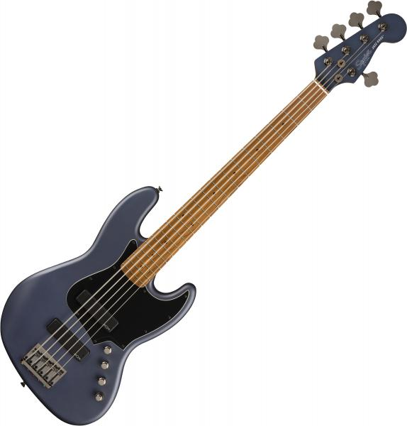 Solid body electric bass Squier FSR Contemporary Active Jazz Bass HH V Ltd - Midnight satin