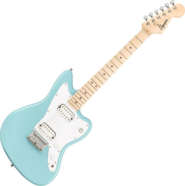 Electric guitar for kids Squier Bullet Mini Jazzmaster HH - Daphne blue