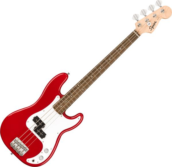 Electric bass for kids Squier Bullet Mini Precision Bass (LAU) - Dakota red