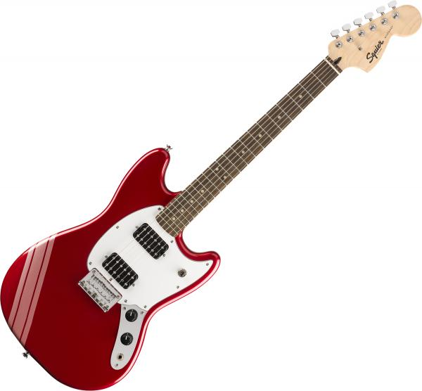 Solid body electric guitar Squier Bullet Competition Mustang HH FSR Ltd - candy apple red