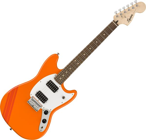 Solid body electric guitar Squier Bullet Competition Mustang HH FSR Ltd - Orange