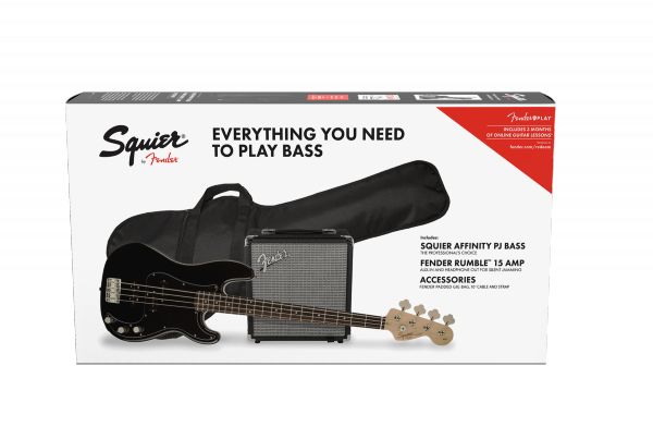 Electric bass set Squier Affinity Series Precision Bass PJ Pack 2018 - black