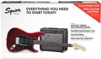 Electric guitar set Squier Affinity Series Stratocaster HSS Pack 2018 - Candy apple red