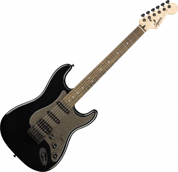 Solid body electric guitar Squier Bullet Stratocaster HT HSS FSR Ltd - Black metallic