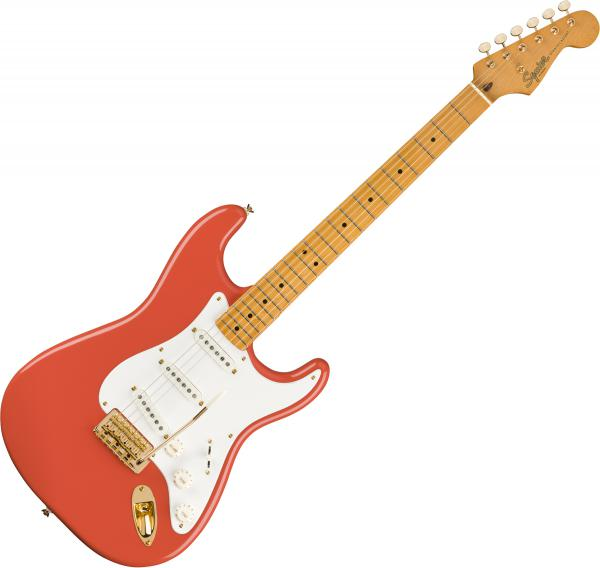 Solid body electric guitar Squier Classic Vibe '50s Stratocaster FSR Ltd - Fiesta red with gold hardware
