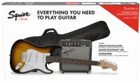 Electric guitar set Squier Stratocaster Pack 2018 - Brown sunburst