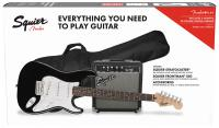Electric guitar set Squier Stratocaster Pack 2018 - Black