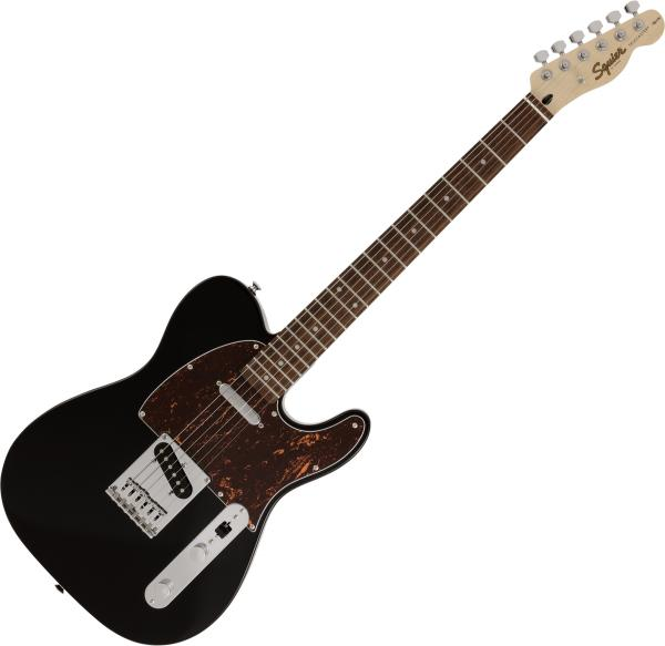 Solid body electric guitar Squier Affinity Series Telecaster Tortoiseshell Pickguard FSR Ltd - Black