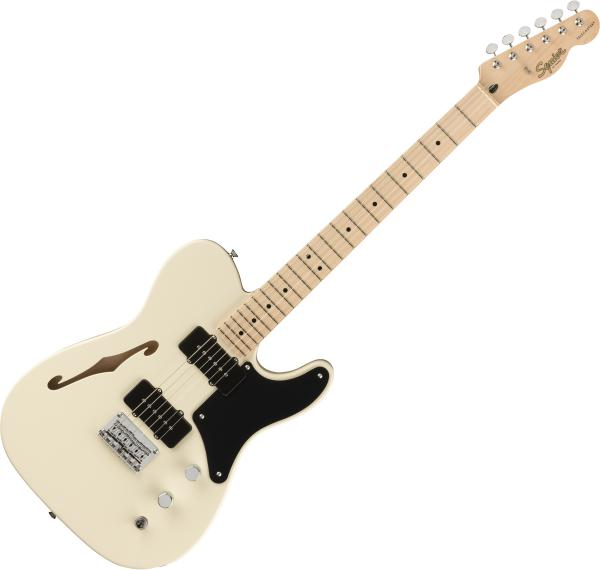 Solid body electric guitar Squier Paranormal Cabronita Telecaster Thinline - Olympic white
