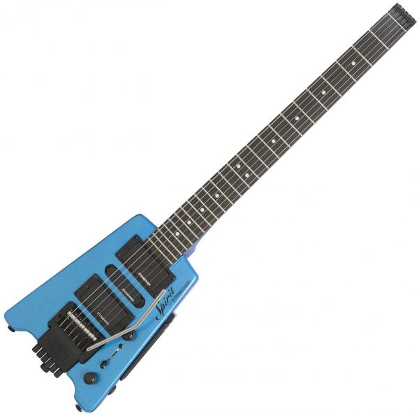 Travel & mini electric guitar Steinberger GT-PRO Deluxe Outfit +Bag - Frost blue