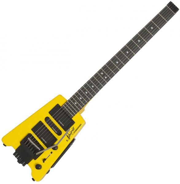 Travel & mini electric guitar Steinberger GT-PRO Deluxe Outfit +Bag - Hot rod yellow
