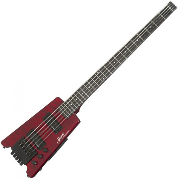 Travel electric bass Steinberger XT-25 Quilt Top Standard Bass Outfit +Bag - Wine red