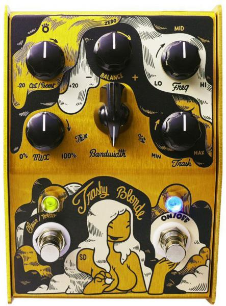 Overdrive, distortion & fuzz effect pedal Stone deaf Trashy Blonde Overdrive