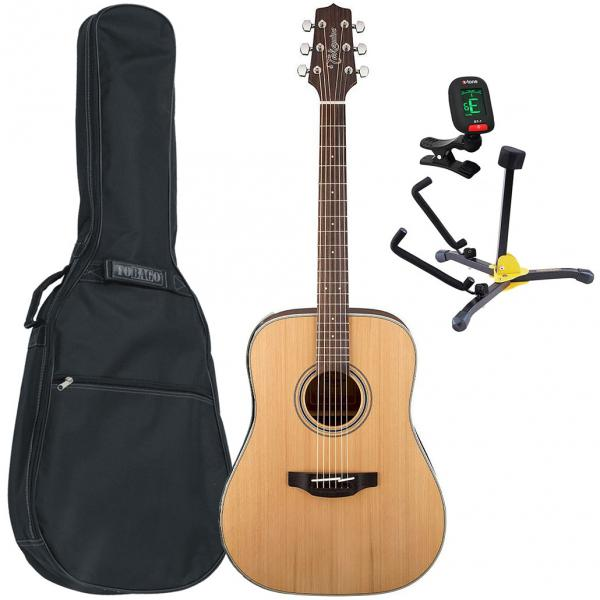 Acoustic guitar set Takamine GD20-NS Pack (+tuner +bag +stand) - Natural
