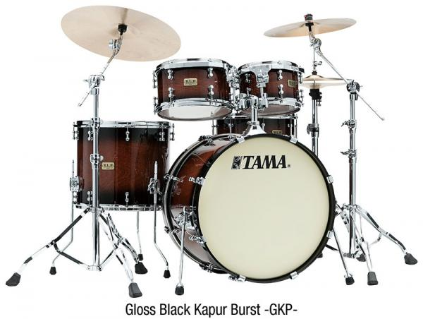 Fusion drum kit Tama S.L.P. Dynamic Kapur Kit - 4 shells - Gloss black kapur burst