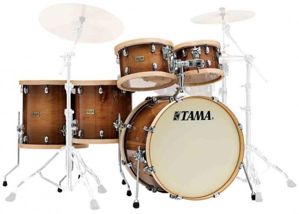 Rock drum kit Tama S.L.P. Drum Kit Studio Maple LMP52RTLS GSE - 5 shells - Gloss sienna