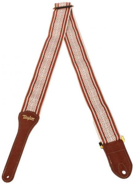 Guitar strap Taylor Academy Guitar Strap - White/Brown