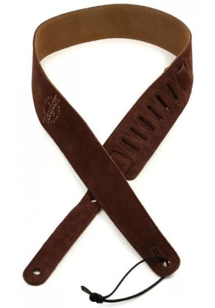 Guitar strap Taylor Embroidered Suede Guitar Strap 2.5 inch - Chocolate