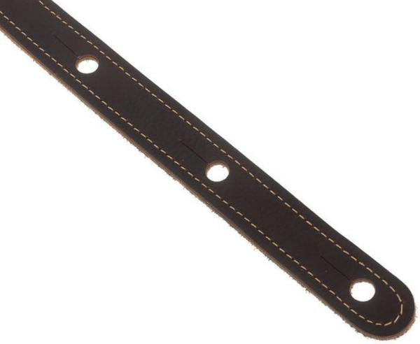 Guitar strap Taylor Leather Guitar Strap, Suede Back, 2.5 inch - Chocolate Brown