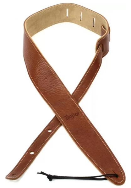 Guitar strap Taylor Leather Guitar Strap, Suede Back, 2.5 inch - Medium Brown