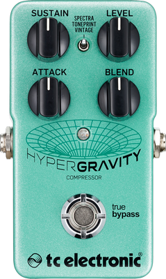 Compressor, sustain & noise gate effect pedal Tc electronic HyperGravity Compressor