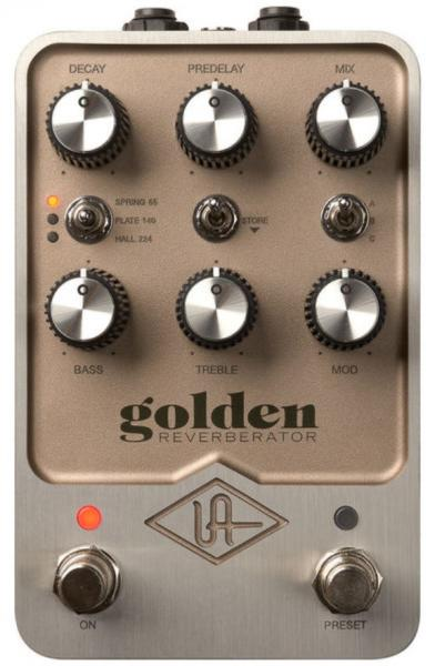 Reverb, delay & echo effect pedal Universal audio UAFX Golden Reverberator