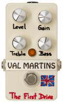 Overdrive, distortion & fuzz effect pedal Val martins The First Drive