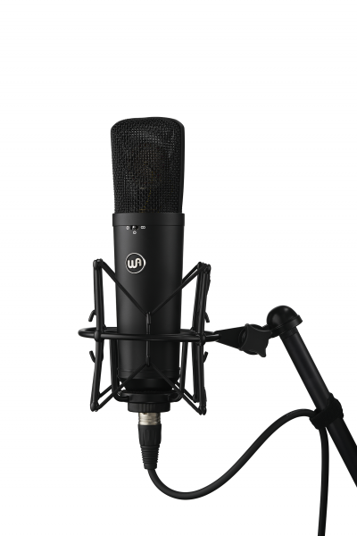 Studio recording and live microphone Warm audio Wa-87 R2 Black