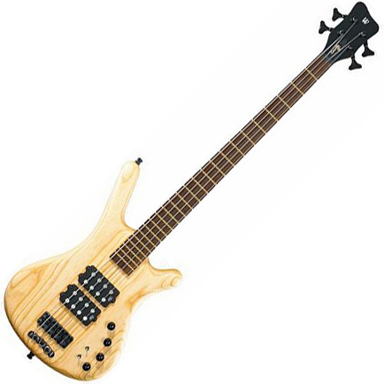 Solid body electric bass Warwick Corvette $$ double buck - natural