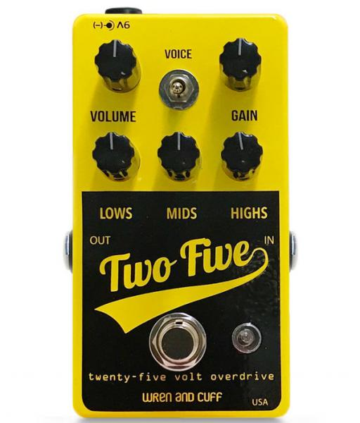 Overdrive, distortion & fuzz effect pedal Wren and cuff Two Five Drive Boost