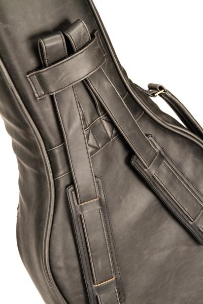 Electric bass gig bag X-tone 2035 BAS-MBK Deluxe Leather Electric Bass Bag - Matt Black