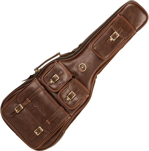 Electric guitar gig bag X-tone 2035 Deluxe Leather Electric Guitar Bag - Brown