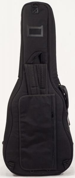 Acoustic guitar gig bag X-tone Deluxe Nylon Folk Dreadnought Guitar Bag - Black