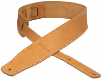 Guitar strap X-tone xg 3150 CLASSIC LEATHER GUITAR STRAP CUIR 6.5CM BROWNSTONE Caramel