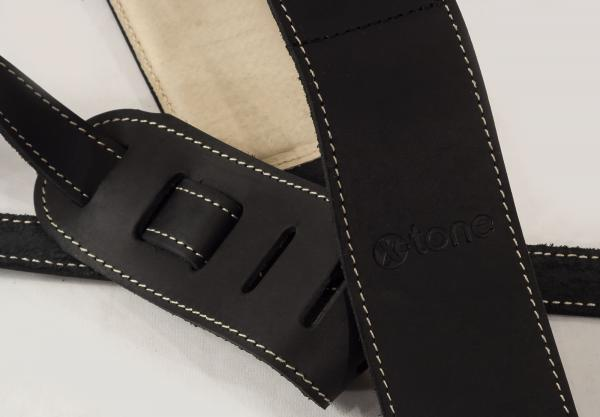 Guitar strap X-tone xg 3157 Classic Plus Leather Guitar Strap - Black
