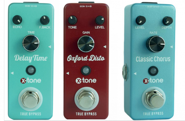 Reverb, delay & echo effect pedal X-tone pack 3 effets Disto + Chorus + Delay